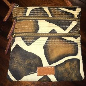 Dooney & Bourke Giraffe crossbody leather & vinyl
